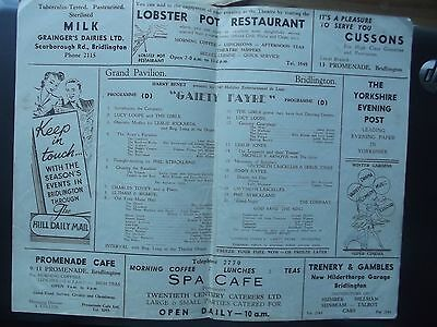 Theatre Programme Bridlington.