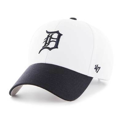 '47 Brand Detroit Tigers White Top MVP Adjustable MLB Cap