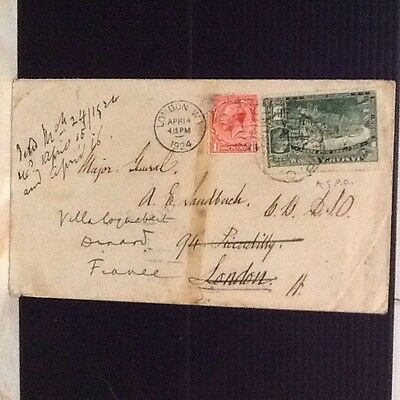 1924 Jamaica T.P.O. Redirected Cover To England/ France