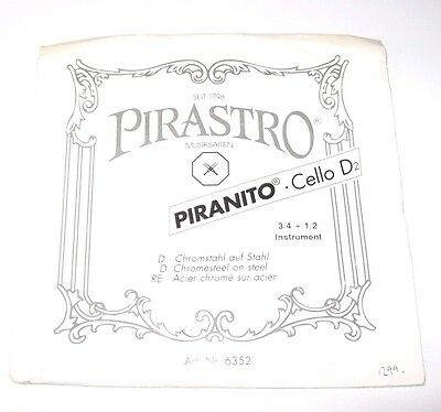 Pirastro Chorda Viola D String - 1/2-3/4 size cello