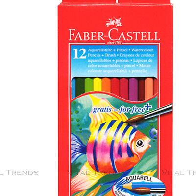 12 x Water Colour Pencils and A free Brush Faber-Castell Pencil Set