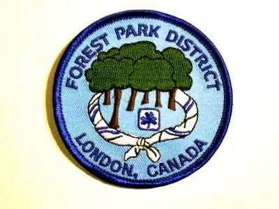 Girl Guide Scout FOREST PARK DISTRICT Badge Patch Crest Discontinued RARE Canada