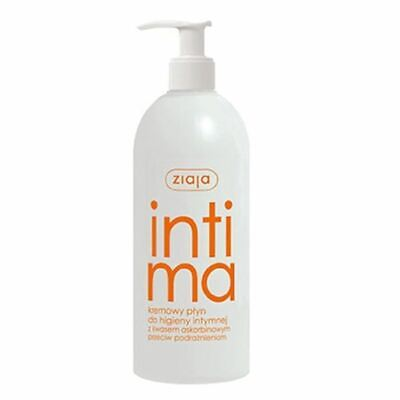 Ziaja Intima Moisturizing Creamy Wash Intimate Hygiene with Ascorbic Acid 500ml