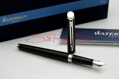 Waterman Hemisphere Essential Füller Fountain Pen Matt Schwarz / Palladium