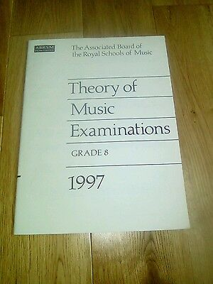 Abrsm grade 8 theory papers 1997