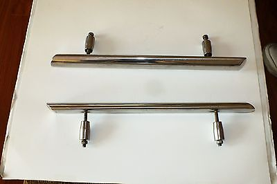 "2 Used Stainless Steel 18"" Cleats/hand/grab Rails"