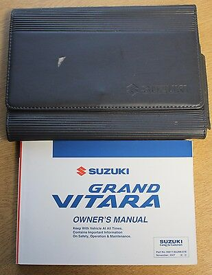Suzuki Grand Vitara Owners Manual Handbook Wallet 2005-2009 Pack 13460