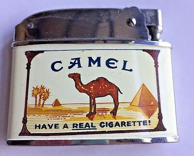 Vintage Camel Cigarettes Lighter In Original Box