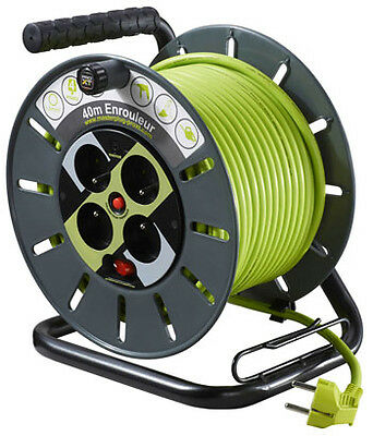 40M Open Reel - 4 Sockets - Led Indicator - Safety Thermal Cut-Out - C
