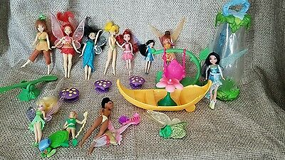 Tinker Bell Pixie Fairies Dressed Doll Wings lot mini polly pocket style