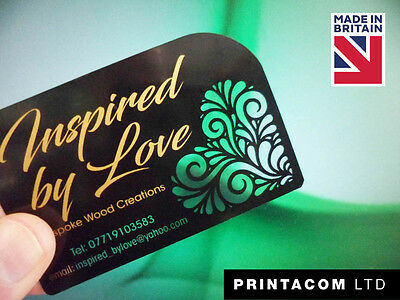 personalised business cards PVC (clear plastic)