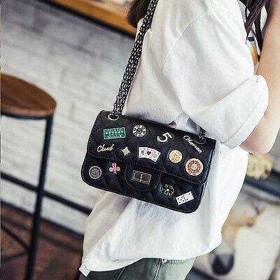 personality fashion badge women Handmade   shoulder bag Handbag 1335