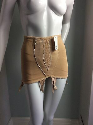 Vintage Style French Open Bottom Girdle, Four Detachable Suspenders Size 6-8.