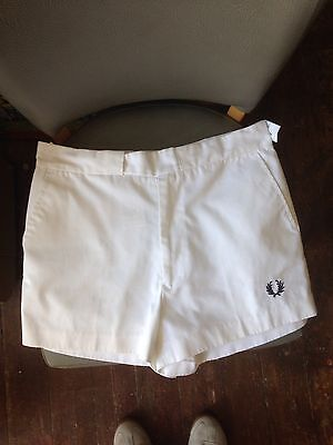 "Vintage Fred Perry Tennis Shorts 30"" 1980s Retro"