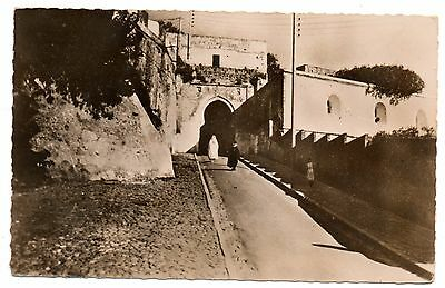 Tangier Morocco postcard, Kasbah gate, c1940 Elgaly edition RP