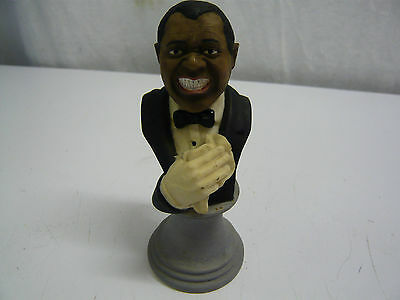 LEONARDO COLLECTION Louis Armstrong Ceramic bust Approx 11cm tall Great Sachmo!