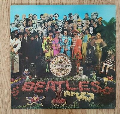 The Beatles Sgt Peppers mono vinyl LP UK first press with cutouts and inner