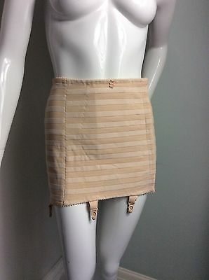 Vintage Style Open Bottom Girdle, Four Suspenders , Nude.