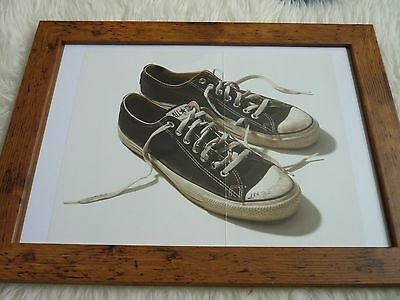 Framed Kurt cobain unseen Book Nirvana Artifact photo Sneakers Trainers Taken by