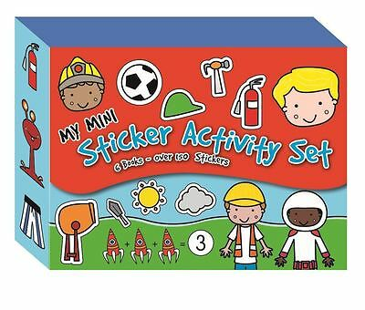 Boys My Mini Sticker Activity Set With Magnetic Opening-6 BOOKS 150 STICKERS-10
