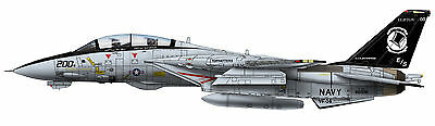 Calibre Wings 1/72 CBW721403 F-14A Tomcat USN VF-14, Tophatters, last F14 Cruise