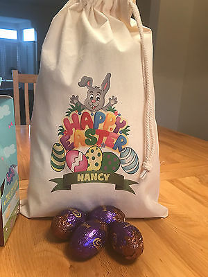 Large easter gift bag extra wide base 26cm h 33cm w 18cm depth personalised easter gift bag nancy design various sizes available negle Image collections
