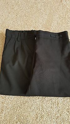 2 x pairs of girls black school trousers age 11 years