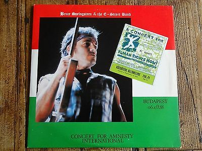BRUCE SPRINGSTEEN collection: CONCERT AMNESTY INT. - 2 LP set-   BUDAPEST 9/1988