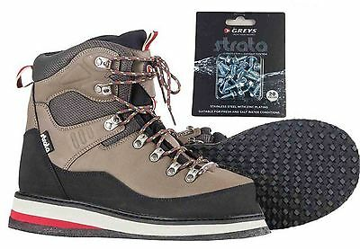 Greys Strata CTX Rubber Sole Durable Wading Fishing Boots & Studs - All Sizes