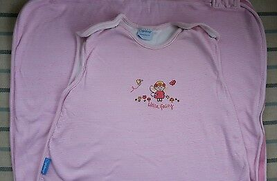 Grobag size 18-36 months 1 tog. Pink stripes with Little Fairy embroidery.