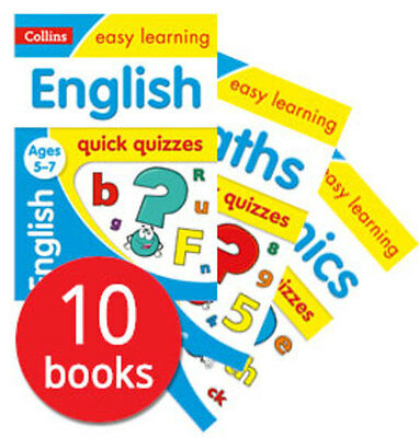 Collins Easy Learning: Quick Quizzes - Ages 5-7 Collection - 10 Books
