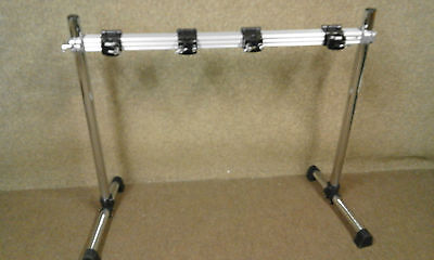 Pearl customised Icon 'Goalpost' rack with 4 clamps.