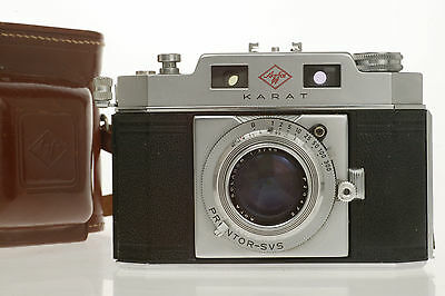 AGFA KARAT IV + 50mm 1 : 2 SOLAGON, fully working Condition + Case, very NICE !