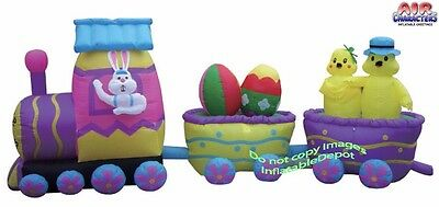15' Air Blown Inflatable Easter Bunny DELUXE Train Y606