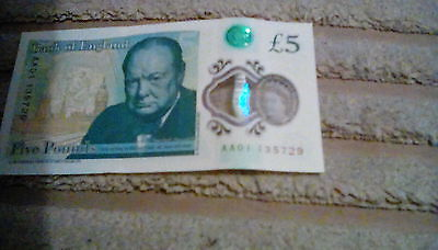 AA01 135729 five pound note
