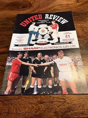 Liverpool V Nottingham Forest 1989 Fa Cup Semi Final Replay Programme Mint