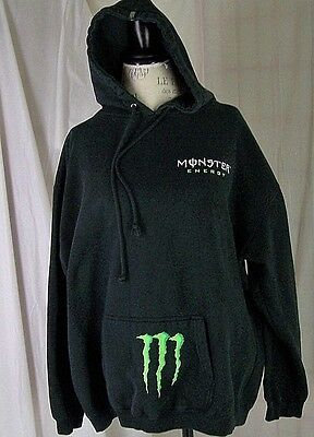 Monster Energy Pullover Hoodie Jacket  - XL Men's Black Long Sleeve