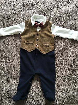 Baby Boys All In One Mamas And Papas Size 3-6 Months