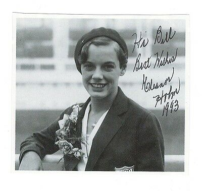 Eleanor Holm signed photo / 1936 Olympics Swimming autographed