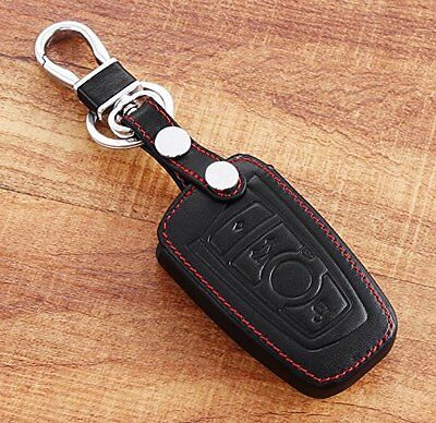 Leather Remote Smart Key Fob Case Holder Cover For BMW