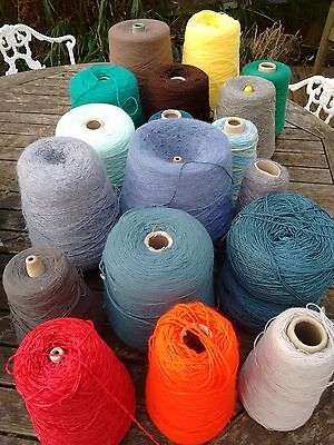 job lot: machine knitting cones mixed yarn and colours