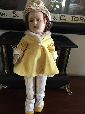 "16.5""  English CHAD VALLEY Glass Eyes DOLL ALL ORIGINAL Plus Extras"
