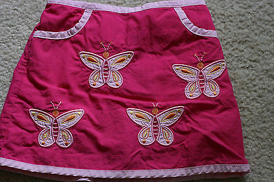 Lands End Girls Skirt Skort Size 3T Pink Butterflies EUC