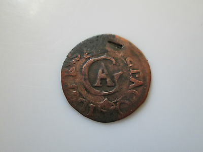 Sweden medieval silver coin, Gustav II Adolf solidus, 1618, old counterf.!