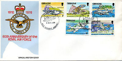 GB - GIBRALTAR 1978 FDC RAF  60th ANNIVERSARY OF THE ROYAL AIR FORCE (1918-1978)