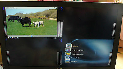 """HD SD Vutrix 32"""" Quad / single Monitor with built in on screen audio monitoring"""