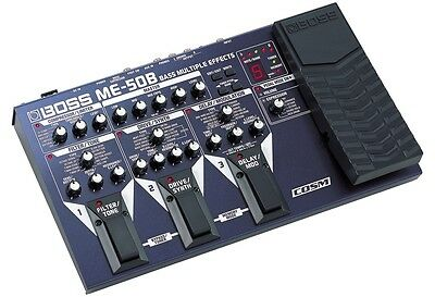 Boss Me-50B 50 B Bass Guitar Multi Effects Pedal & Power Supply