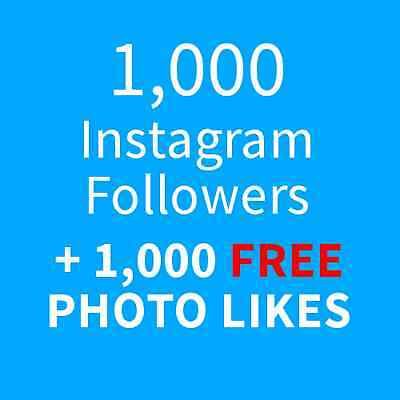 1000 Instagram-Followers and 1000 Photo-Likes - USA Seller