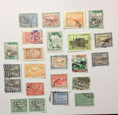 Saudi Arabia 23 used stamps with some early issues.