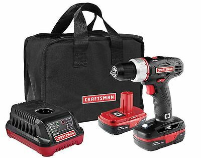 """1/2"""" Craftsman Impact Wrench Cordless C3 19.2 Volt Driver Drill Kit Power Tools"""